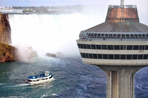 Skylon Tower overlooking Niagara Falls
