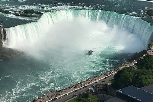 Ariel view of the Maid in the Middle of Niagara Falls