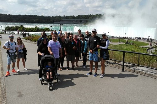 Group photo while on our Niagara Falls American Side Tour