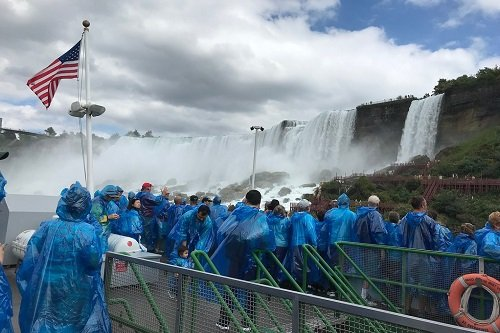 A ride aboard the maid of the mist on the American Side Tour of Niagara Falls