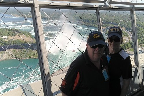 Inside view of the Skylon tower while on our Niagara Falls Canada Tour