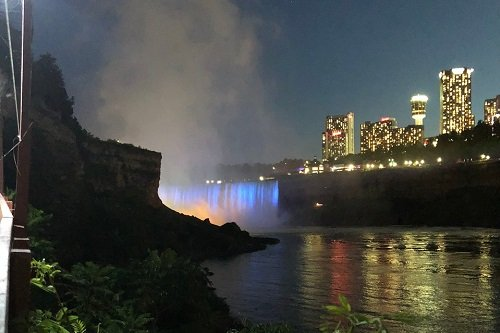 Niagara Falls Lightshow on the Horseshoe Falls