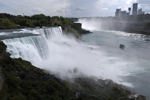 A cloudy day in Niagara Falls