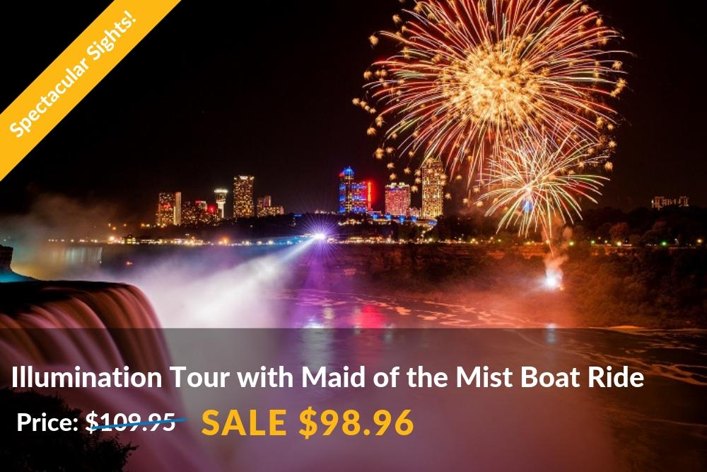 Niagara Falls Tour Canada With Maid Of The Mist Over The